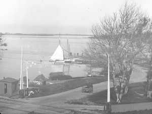 Bristol Ferry area - from glass negative by Sarah Eddy
